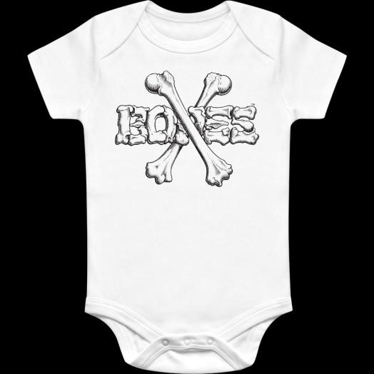 BONES WHEELS Crossbones Onesie White