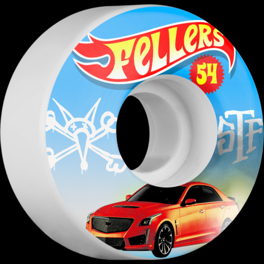 BONES STF Pro Fellers Hot Wheels 54x30 V3 Skateboard Wheel 83B 4pk