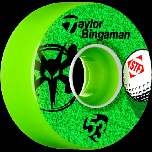 BONES WHEELS STF Pro Bingaman Aced 53mm wheels 4pk Green
