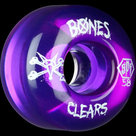 BONES SPF Clear Purple 58x37 P2 Skateboard Wheel 84B 4pk