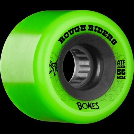 BONES WHEELS Rough Riders 56mm Green Wheel 4pk