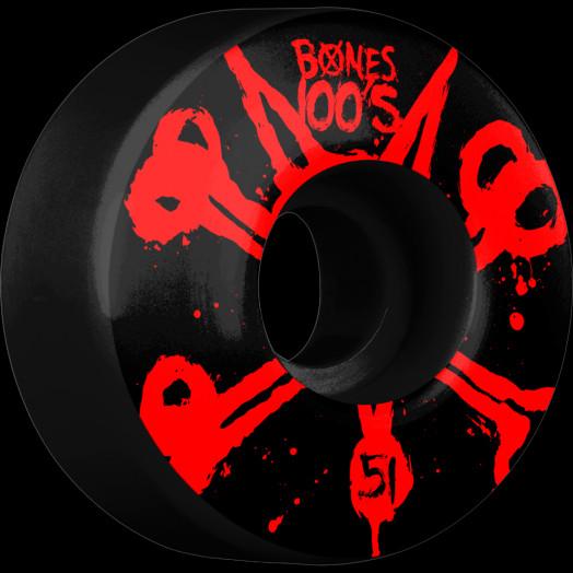 BONES WHEELS 100's Black 51mm 4pk