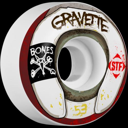 BONES WHEELS STF Pro Gravette Wasted Life 53mm 4pk