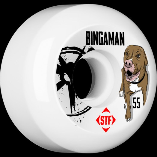 BONES WHEELS STF Pro Bingaman Tank 55mm wheels 4pk