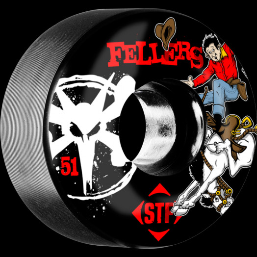 BONES WHEELS STF Pro Fellers Bronco 51mm wheels 4pk Black