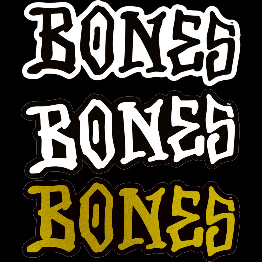 "BONES WHEELS 5"" BONES Sticker 20pk"