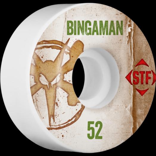 BONES WHEELS STF Pro Bingaman Team Vintage Wheel 52mm 4pk