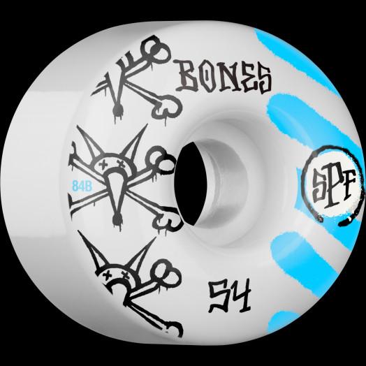 BONES SPF War Paint 54x34 P4 Skateboard Wheel 84B 4pk