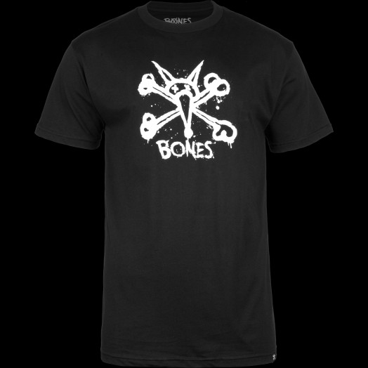 BONES WHEELS Central T-shirt Black