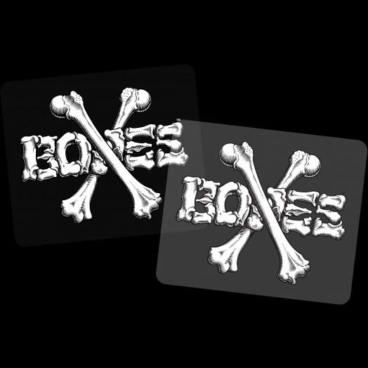 "BONES WHEELS Crossbones 3"" Sticker 20pk"