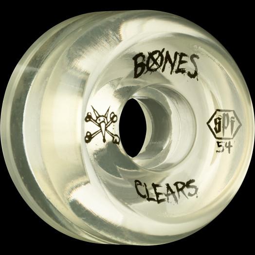 BONES SPF Clear Natural 54x31 P5 Skateboard Wheel 84B 4pk
