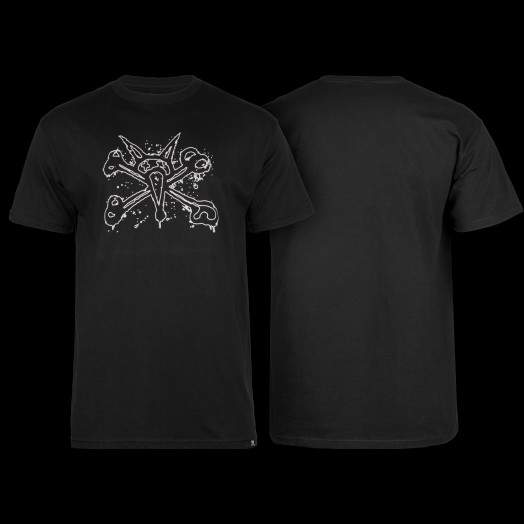 BONES WHEELS T-shirt Ink Black