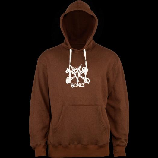 BONES WHEELS Vato Op Hooded Sweatshirt Brown