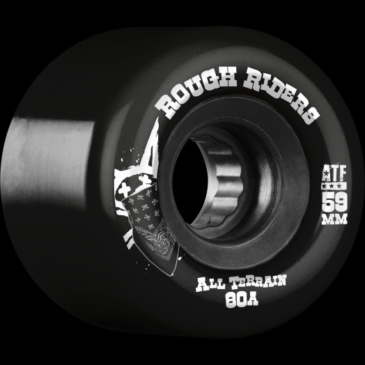 BONES WHEELS Rough Riders 59mm Black Wheel 4pk
