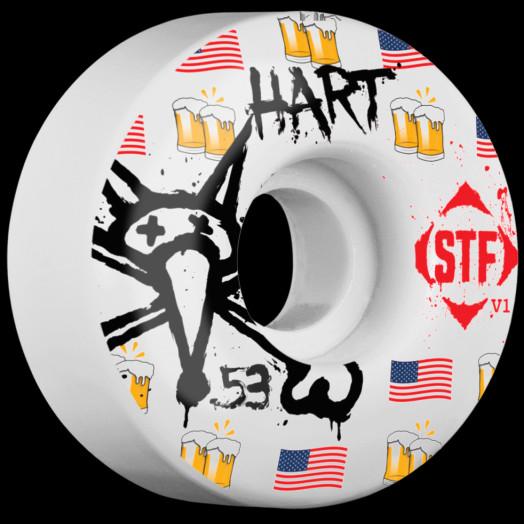 BONES STF Pro Hart Cheers 53x32 V1 Skateboard Wheel 83B 4pk
