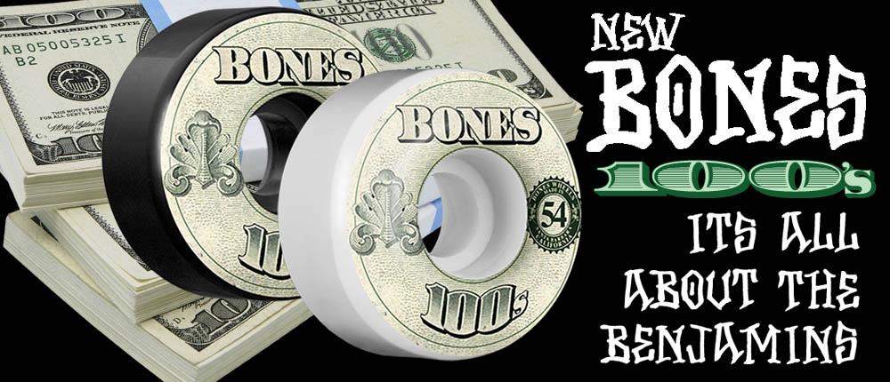 BONES 100s Skateboard Wheels